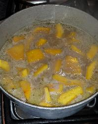 Making Jamaican Pumpkin Soup