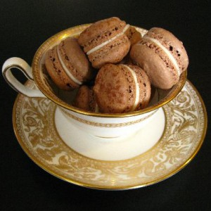 Jessica Cales Chocolate Macarons with Bailey's Cream