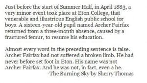 The Burning Sky by Sherry Thomas - Blurb