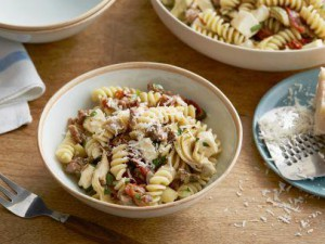 Fusilli with sausage recipe from Amanda Shalaby