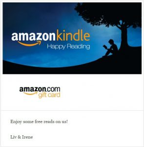 Win an Amazon or Barnes and Noble Gift Card